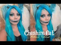 freaky cheshire cat makeup tutorial