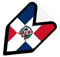 Amazon Com Jdm Dominican Republic Flag Car Decal Wakaba Leaf Badge Not Vinyl Sticker Arts Crafts Sewing
