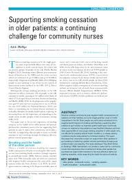 PDF) Supporting smoking cessation in older patients: a continuing ...