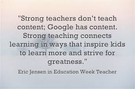 response great teachers focus on connections relationships best