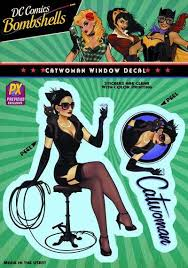 Dc Bombshells Catwoman Previews Exclusive Vinyl Decal