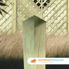 Decorative Wooden Fence Posts 90mm X 90mm X 2400mm Brown