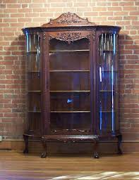 curved glass china curio cabinet
