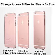 For Iphone 6 Plus Sticker Decal Film Case Cover Decal Sticker Change Phone 6 Plus To For Iphone 6s Plus Rose Gold Phone Pod Phone Screensticker Aliexpress