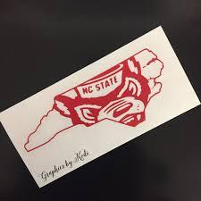 Nc State Wolfpack Decal Sticker North Carolina By Graphicsbykodi Nc State Nc State Wolfpack Car Decals Vinyl