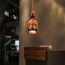 bottle glass ceiling pendant lights