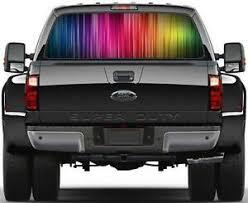 Rainbow Stripes Rear Window Graphic Decal Sticker Car Truck Suv Van 217 Ebay