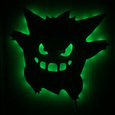 1piece Pokemon Inspired Led Wall Light Remote Activated Gengar Pokemon Led Backlit Wall Art Color Changing Halloween Decorative Led Wall Light Wall Lightled Wall Aliexpress