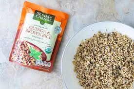 quinoa and brown rice salad with black