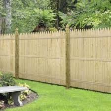 Barrette 6 Ft H X 8 Ft W Flat Rough Sawn Stockade Fence Panel 73000470 At The Home Depot Mobile Stockade Fence Fence Panels Wood Fence