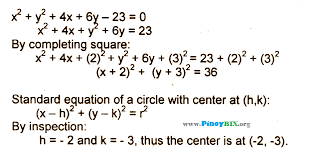 a circle whose equation is x 2 y 2 4x