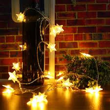Dây đèn LED 40 bóng hình ngôi sao năm cánh trang trí giáng sinh giảm chỉ  còn 77,900 đ