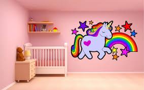 Unicorn Rainbow Wall Sticker Kapow Boom