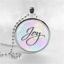 joy pendant necklace inspirational word