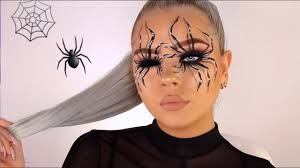 easy spider illusion makeup