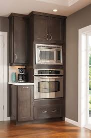 this tall microwave and oven cabinet