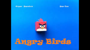 Paper Toys. Origami - Papiroflexia. Angry Birds 3D #7 - YouTube