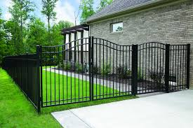 Wayside State Line Of Aluminum Fence 4 Ft Georgia Arched Metal Gate Wayfair