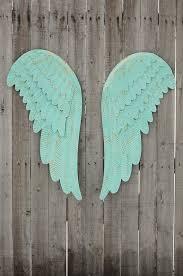 metal angel wings wall decor large
