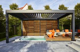 a renson pergola outside and yet