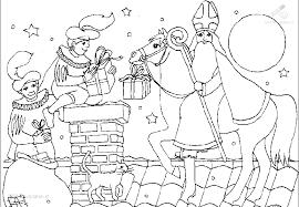 1001 Kleurplaten Sinterklaas Sint Kleurplaat Sint Op De
