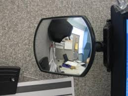 rear view cubicle mirror