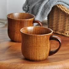 natural wooden cup wood coffee tea beer