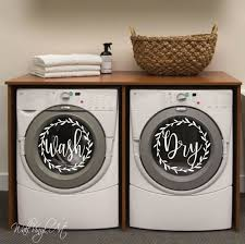 Washer Dryer Decal Set Wall Art Vinyl Decal Lettering Wall Decal Vinyl Lettering Laundry Room Laundry In 2020 Washer And Dryer Laundry Room Decals Washer Dryer Set
