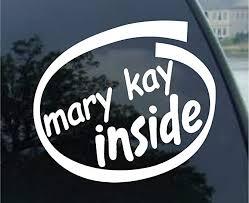 Amazon Com Mary Kay Inside Car Truck Notebook Vinyl Decal Sticker 2112 Vinyl Color White Automotive