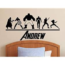 Amazon Com Best Design Amazing The Avengers Wall Decal Personalized Superhero Name Decal Sticker Boys Decor Made In The Usa Large Size Home Kitchen