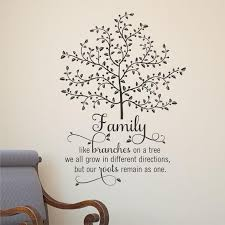 Wall Quote Decal Family Tree With Roots Branches Home Wall Art Etsy Wall Quotes Tree Quotes Family Tree