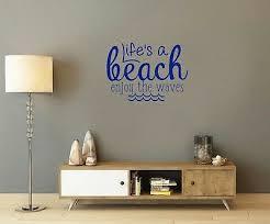 3d Window Sea Beach Decal Ocean Beach Sea Wall Sticker Vinyl Mural Wall Art W112