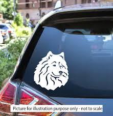 Samoyed Dog Decal Car Window Sticker Premium Outdoor Vinyl Decal Sticker Laptop Glass Phone Samoyed Dog Face Animal Christmas Gift