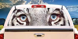 Amazon Com Signmission White Tiger Rear Window Graphic Decal Tint Film Back Animal Car Home Kitchen