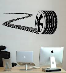 Wheel Wall Decal Nursery Racing Car Sticker Tire Track Boy Kids Room Decor Sm192 For Sale Online