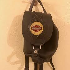 vintage harley davidson bucket backpack
