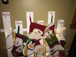 Diy Lighted Stocking Holder Cookies Coffee And Crafts
