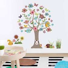 New Animal Cartoon Tree Wall Stickers For Kids Rooms Boys Girls Children Bedroom Home Decor Wall Stickers For Children Wall Stickers For Girls From Kity12 4 53 Dhgate Com
