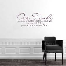 Family Quote Wall Decal Living Room Home Decor Our Family Wall Sign Vinyl Removable Wall Stickers Christian Decals Bedroom S603 Family Quotes Quote Wall Decalwall Decals Aliexpress