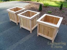 30 easy diy wooden planter box ideas