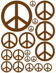Brown Peace Sign Wall Decals Peace Sign Sticker Whimsidecals