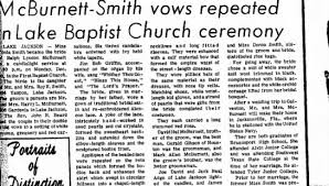 Ralph Lyndon McBurnett's marriage in 1965 to Tonia Smith. - Newspapers.com