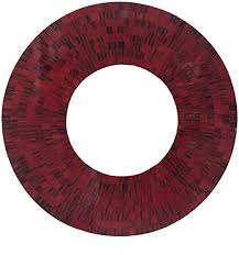 oma red mosaic glass wall mirror