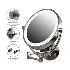 lighted wall mount oval makeup mirror