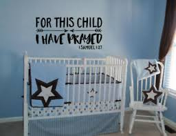 For This Child 1 Samuel 1 27 Vinyl Wall Lettering Wall Art Decal Quote Words Ebay