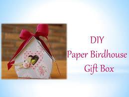diy paper birdhouse gift box you
