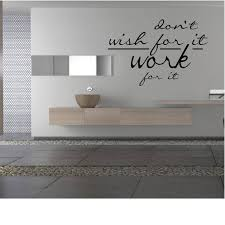 Don T Wish For It Work For It Wall Decal Workout Decal Etsy Wall Decals Textured Walls Interior