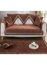 تسوق وغطاء أريكة واق مزين بطبعة أشكال هندسية بلون قهوة أونلاين في