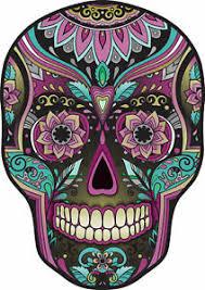 Sugar Skull Day Of The Dead Decal Us Sticker Car Truck Window Bumper Laptop Wall Ebay