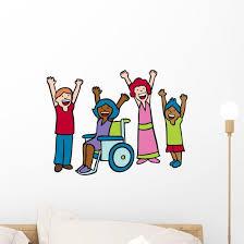 Children Cheer Wall Decal Wallmonkeys Com